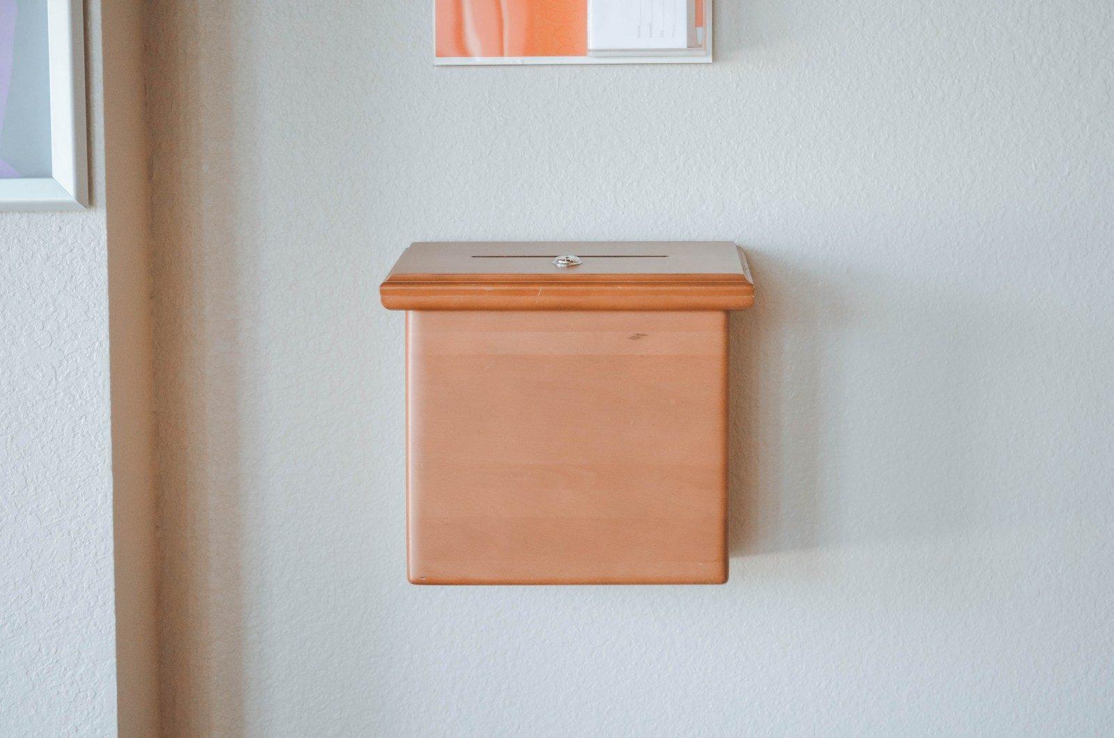 brown mail box